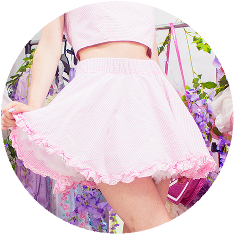 POWDER ruffle skirt | PINK