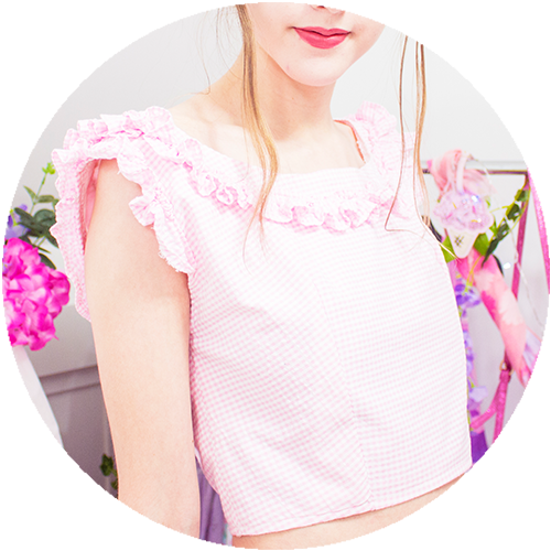 POWDER ruffle top | PINK