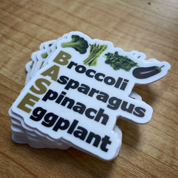 "Veggie Sticker 1""x1"""