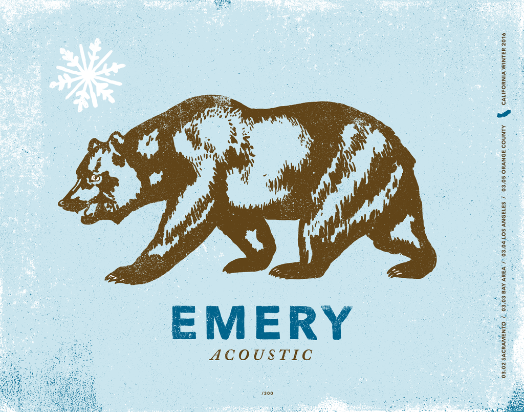 Emery Acoustic: California Poster