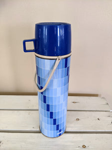 Vintage Blue Seeley Tall Vintage Thermos