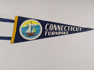 Connecticut Turnpike Vintage Pennant