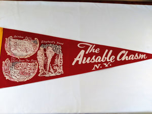 New York Ausable Chasm Vintage Pennant