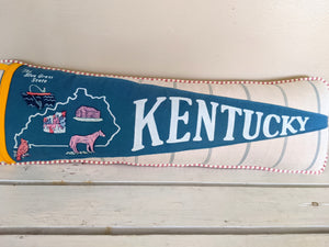 Kentucky vintage pennant pillow