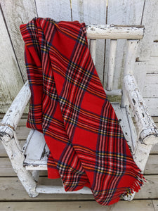 Red  plaid vintage blanket