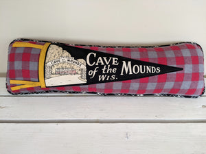 Wisconsin Cave of the Mounds pennant pillow