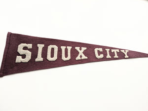 Sioux City vintage pennant