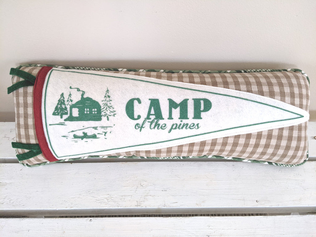 CAMP of the Pines, Tan Buffalo plaid