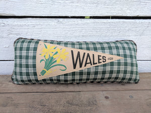 Wales  VintagePennant Pillow
