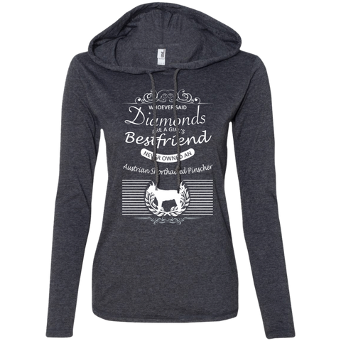 Whoever Said Diamonds Are A Girls Best Friend Never Owned An Australian Shorthaired Pinscher Ladies Tee Shirt Hoodies