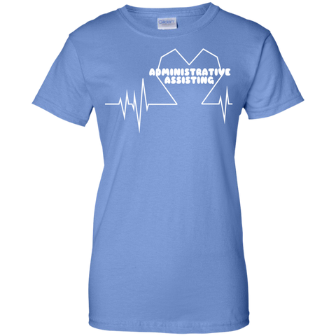 Administrative Assistting Heartbeat Ladies Tees