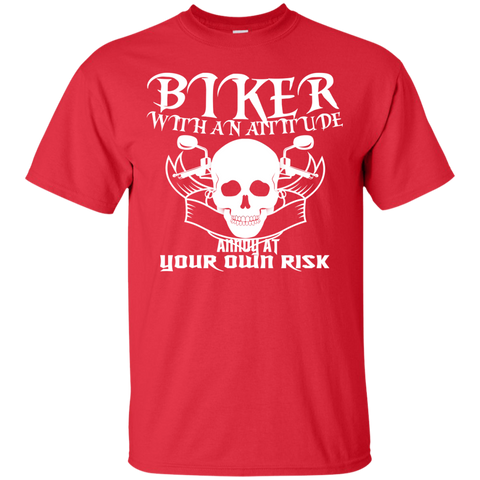 Biker With An Attitude Annoy At Your Own Risk Tee