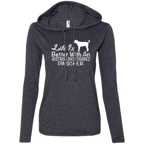 Life Is Better With An Australian Shorthaired Pinscher Ladies Tee Shirt Hoodies