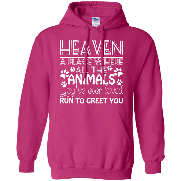 Heaven A Place Where All The Animals Youve Ever Loved Run To Greet You Hoodies
