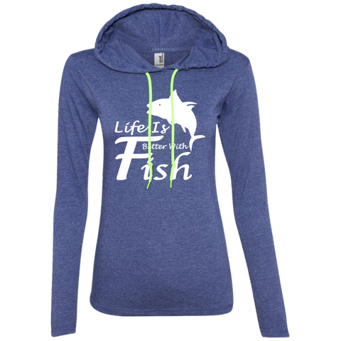 Life Is Better With A Fish Ladies Tee Shirt Hoodies