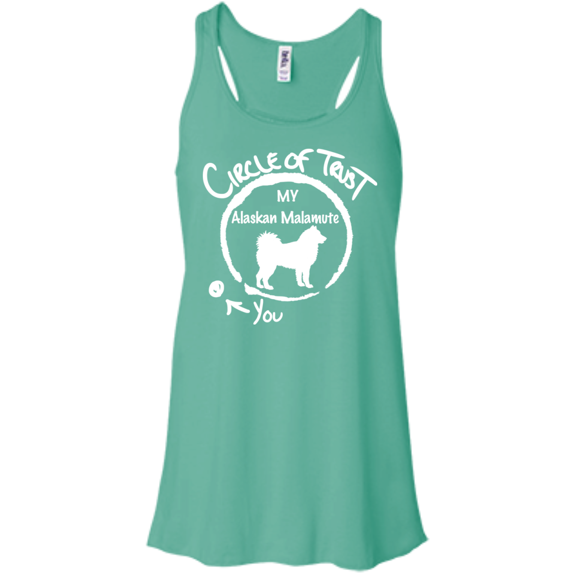 Circle Of Trust My Alaskan Malamute You Flowy Racerback Tanks