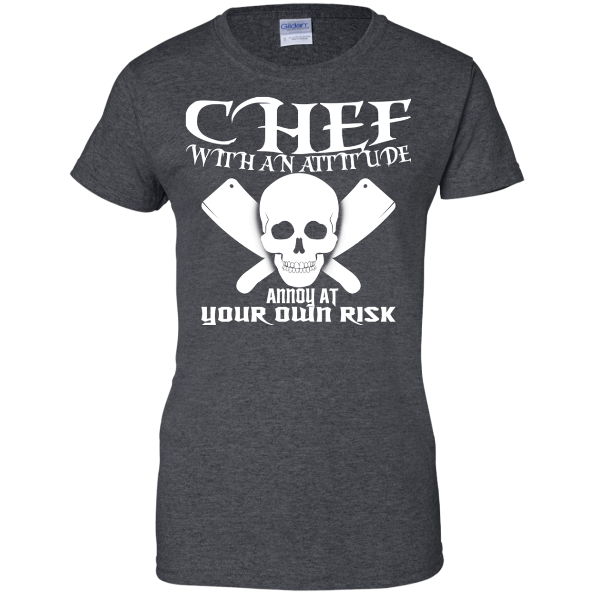 Chef With An Attitude Annoy At Your Own Risk Ladies Tees