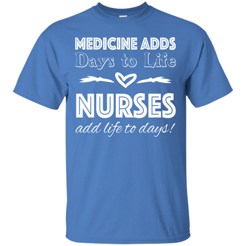 Medicine Adds Days To Life Nurses Add Life To Days Tee