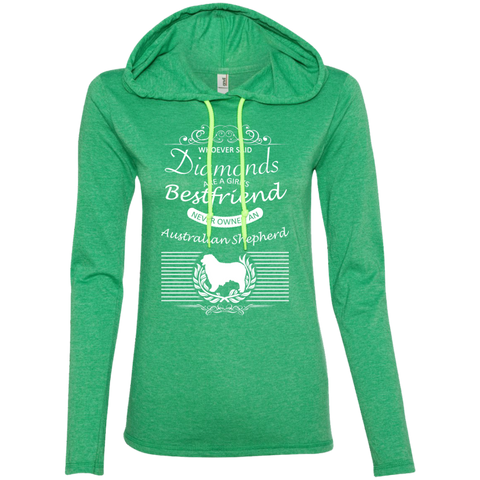 Whoever Said Diamonds Are A Girls Best Friend Never Owned An Australian Shepherd Ladies Tee Shirt Hoodies