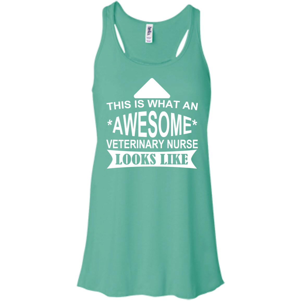 This Is What An Awesome Veterinary Nurse Looks Like Flowy Racerback Tanks