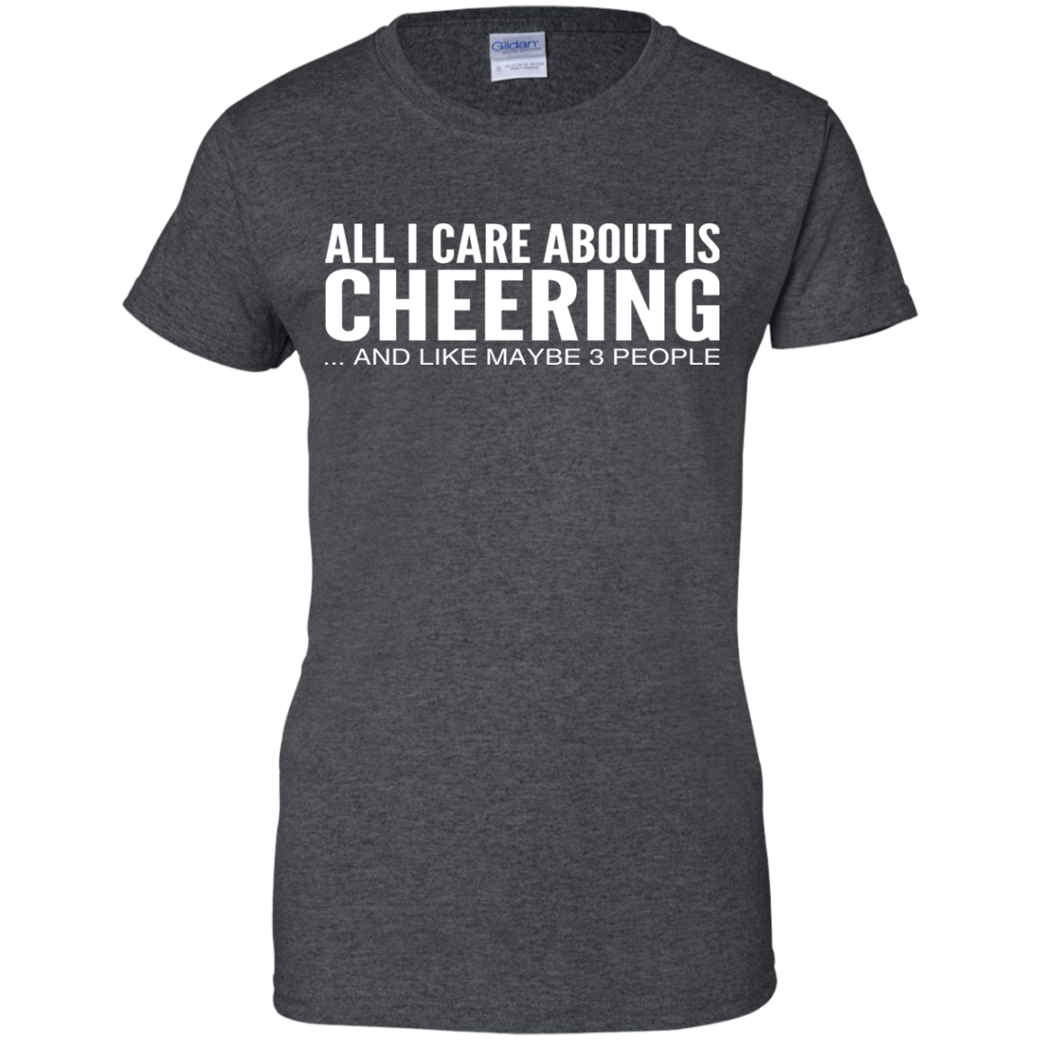 All I Care About Is Cheering And Like Maybe 3 People Ladies Tees