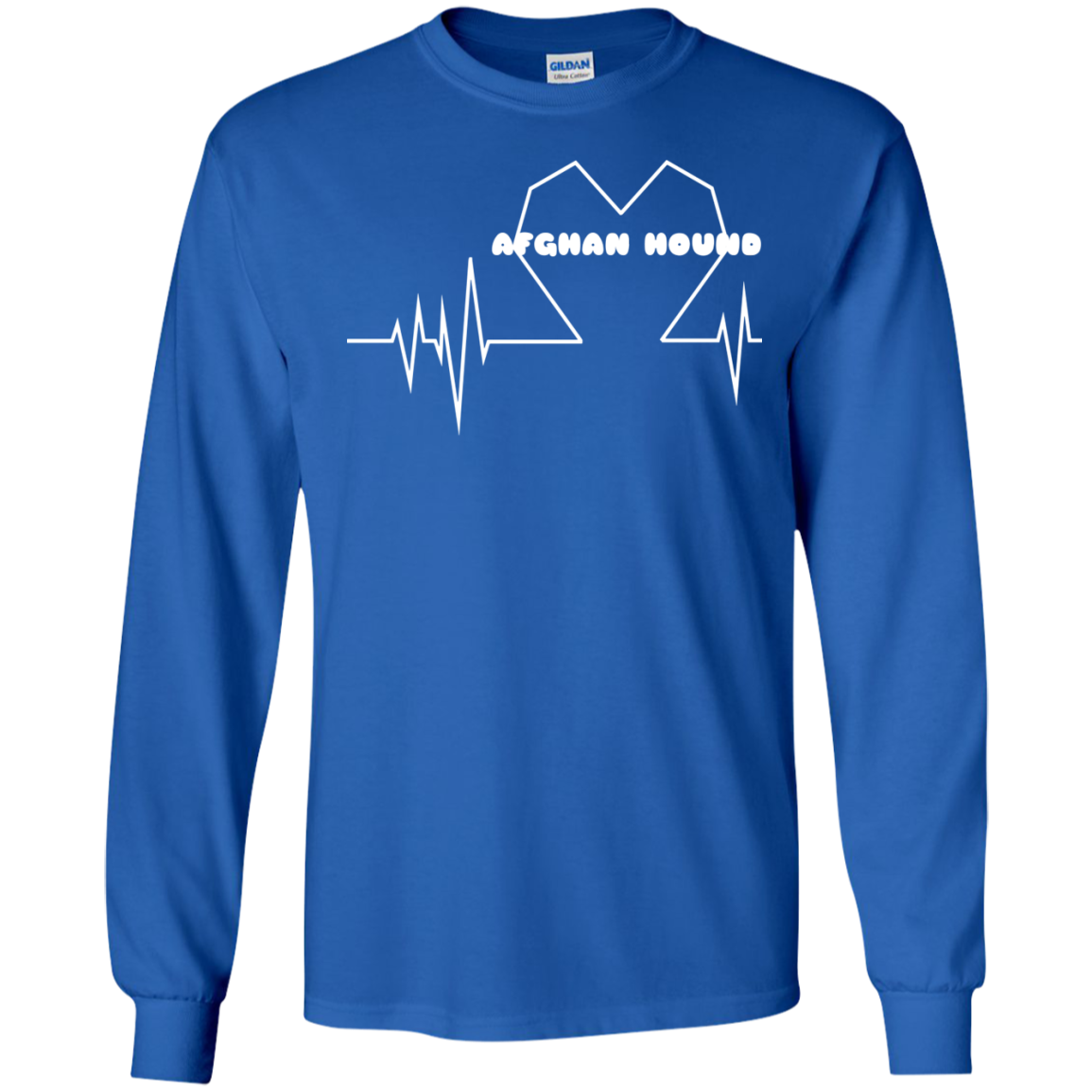 Afghan Hound Heartbeat Long Sleeve Tees