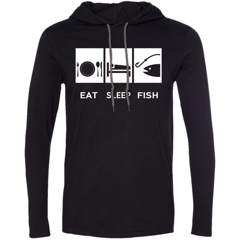 Eat Sleep Fish Tee Shirt Hoodies