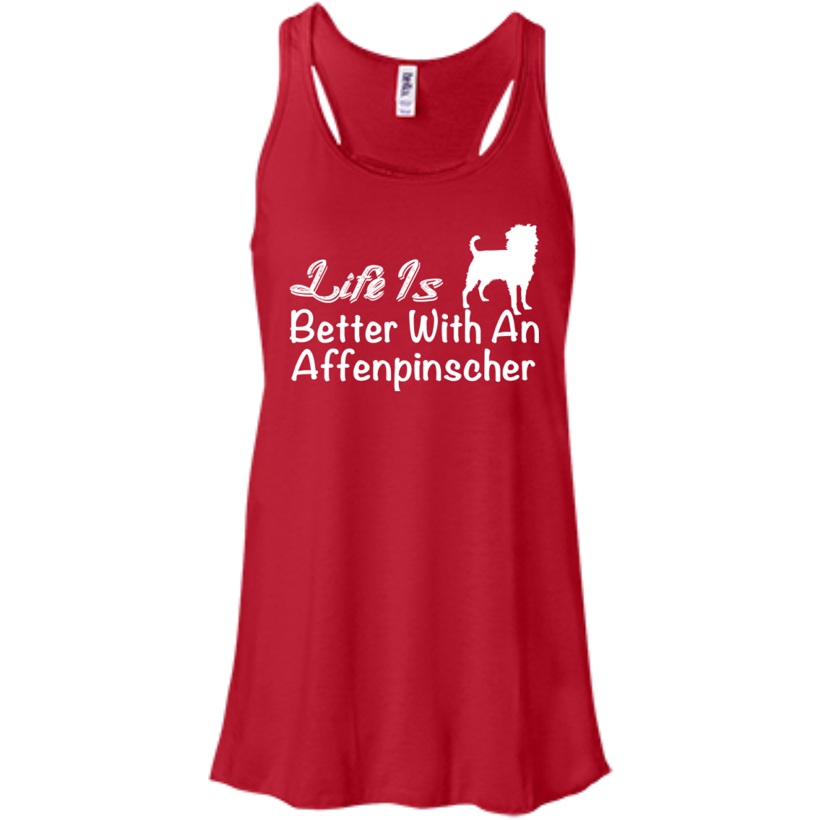 Life Is Better With An Affenpinscher Flowy Racerback Tanks