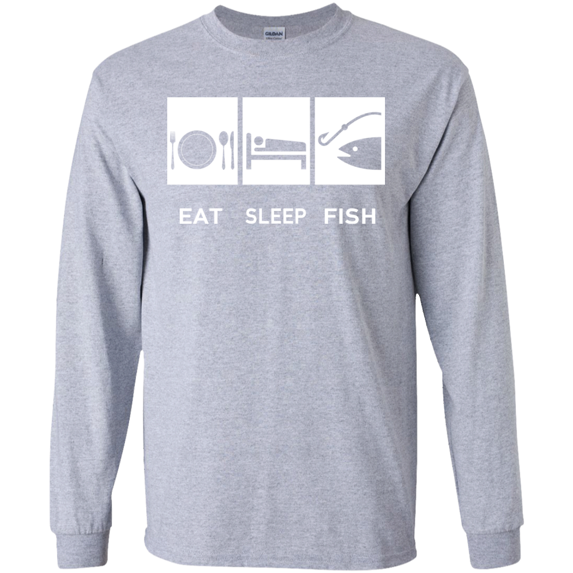 Eat Sleep Fish Long Sleeve Tees