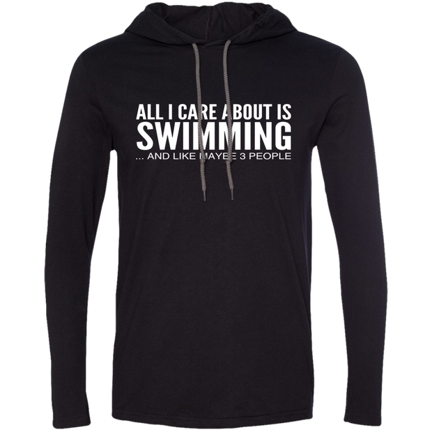 All I Care About Is Swimming And Like Maybe 3 People Tee Shirt Hoodies