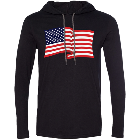 USA Flag In The Wind Show Your Pride Tee Shirt Hoodies