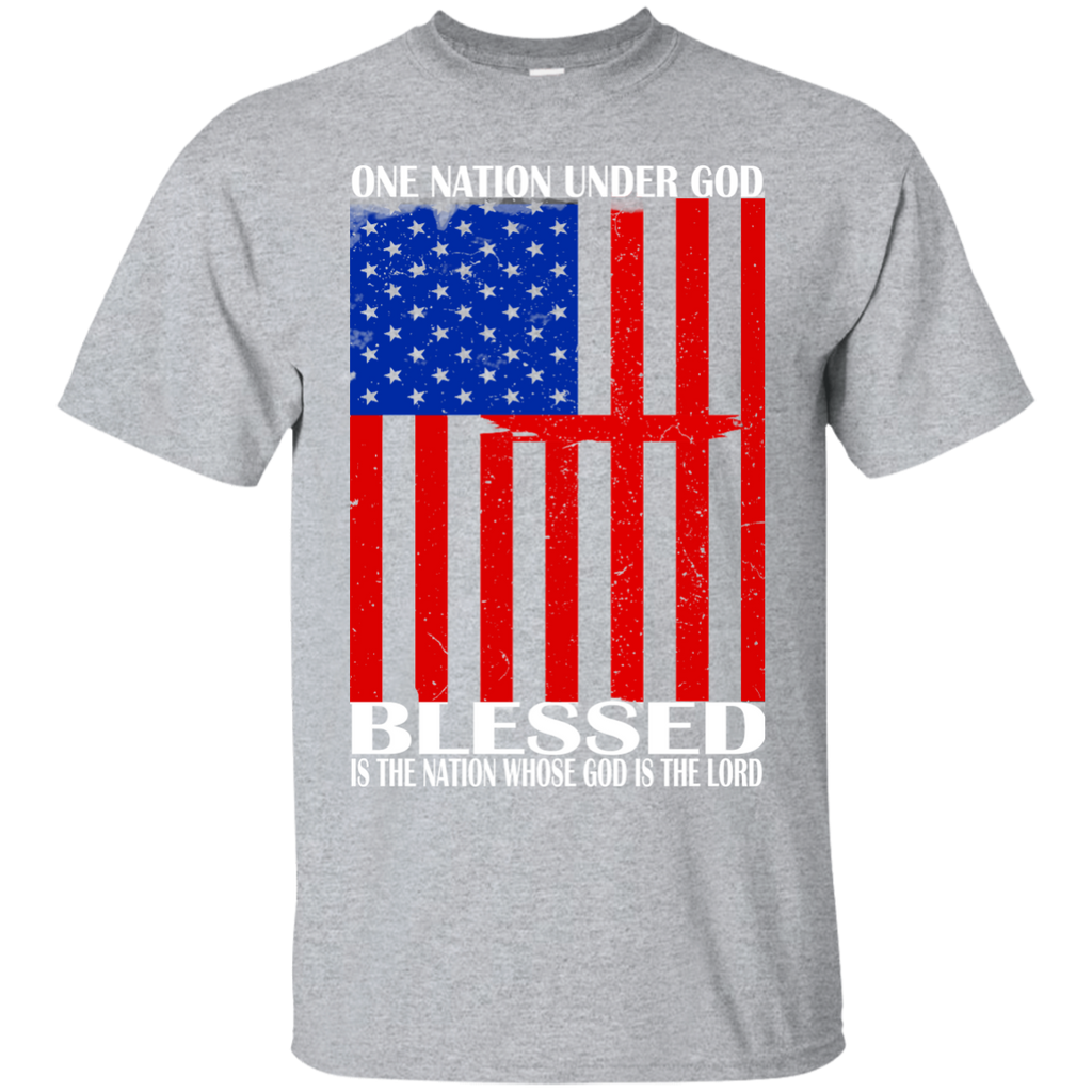 One Nation Under God Blessed Is The Nation Whose God Is The Lord Tee