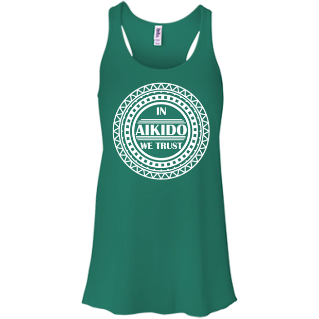 In Aikido We Trust Flowy Racerback Tanks