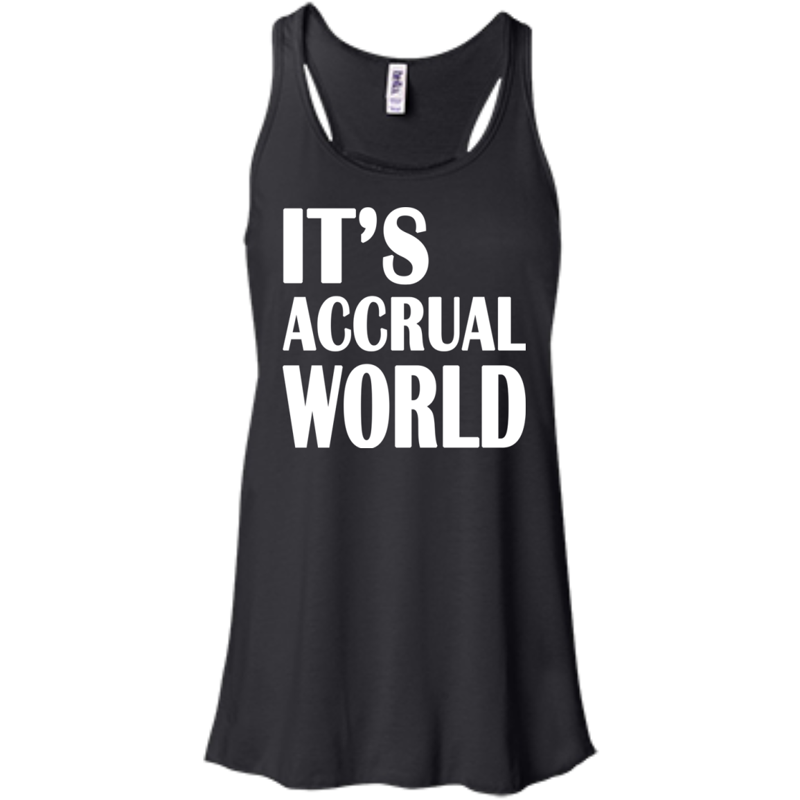 Its Accrual World Flowy Racerback Tanks
