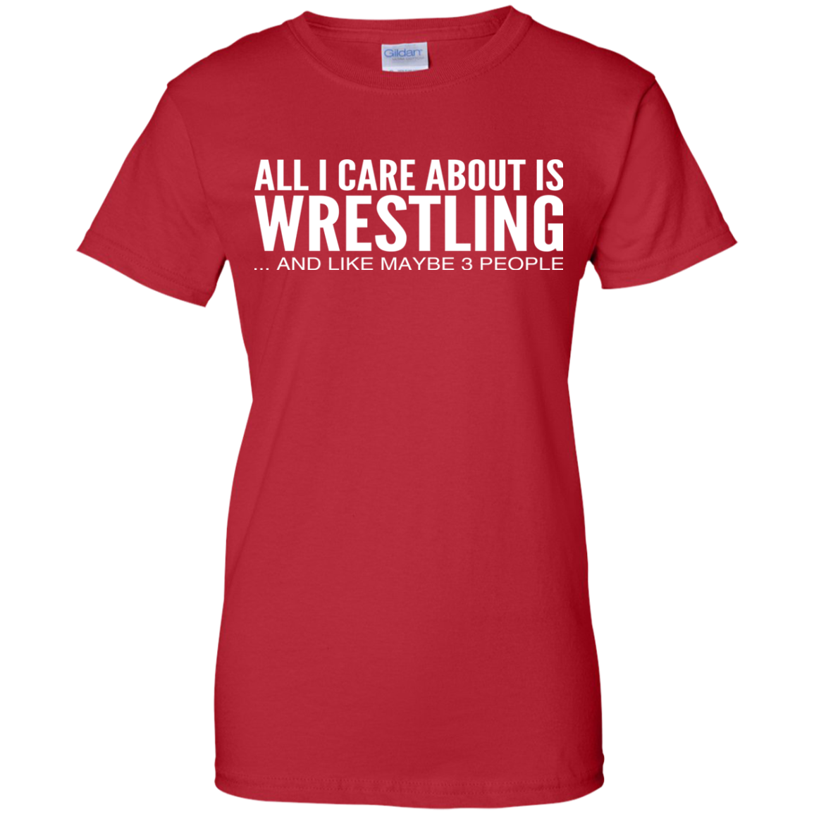 All I Care About Is Wrestling And Like Maybe 3 People Ladies Tees