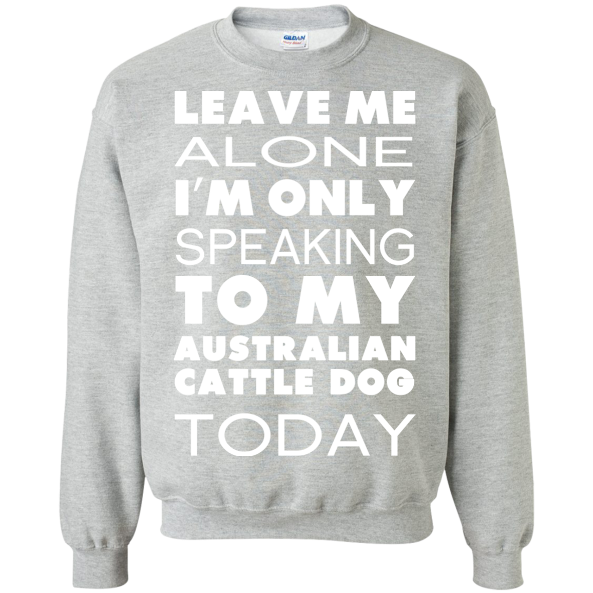 Leave Me Alone Im Only Speaking To My Australian Cattle Dog Today Sweatshirts