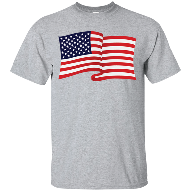 USA Flag In The Wind Show Your Pride Tee