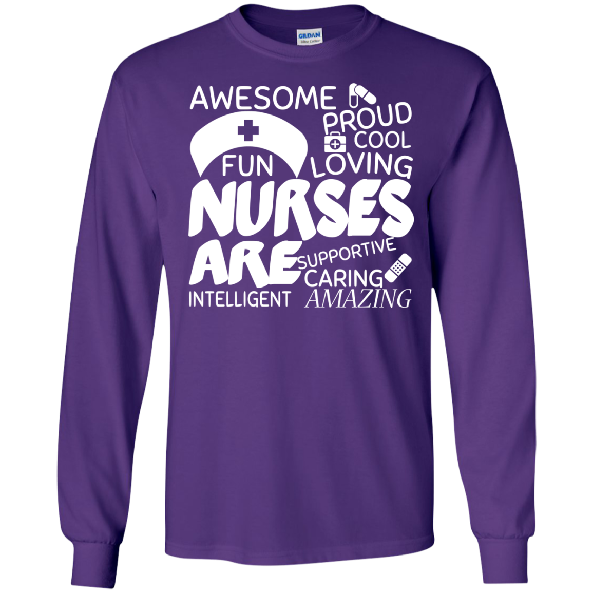 Nurses Are Caring Amazing Long Sleeve Tees