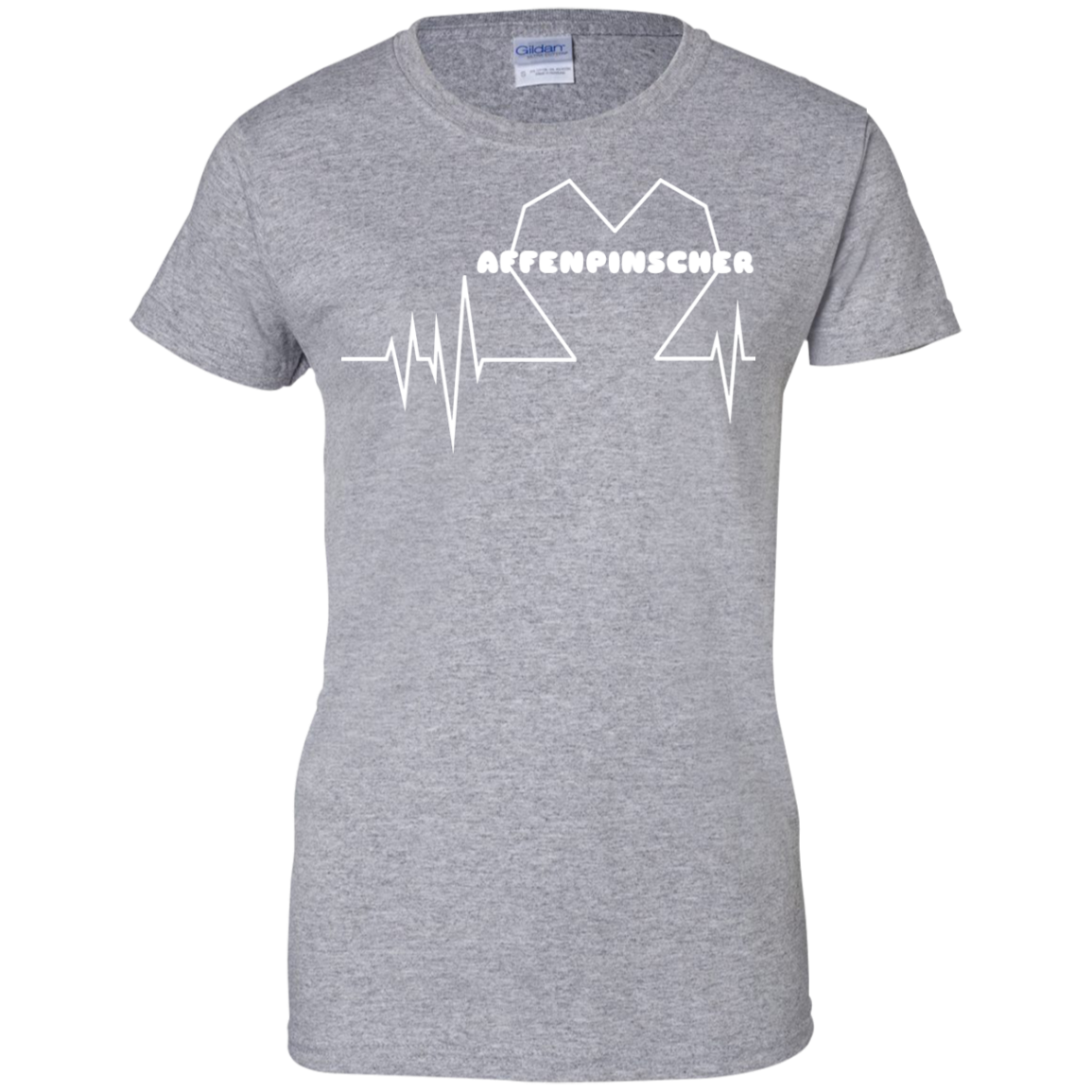 Affenpinscher Heartbeat Ladies Tees