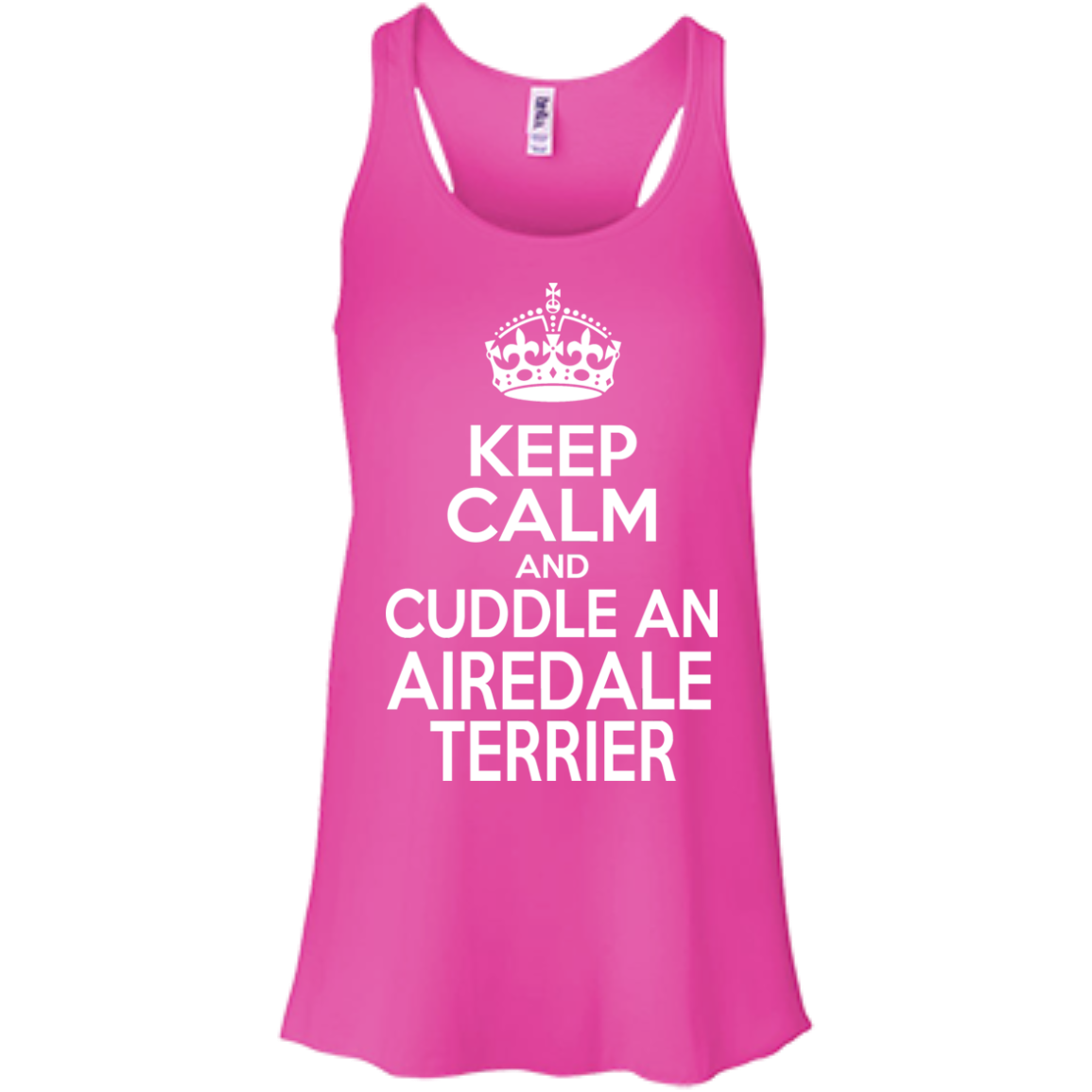 Keep Calm And Cuddle An Airedale Terrier Flowy Racerback Tanks