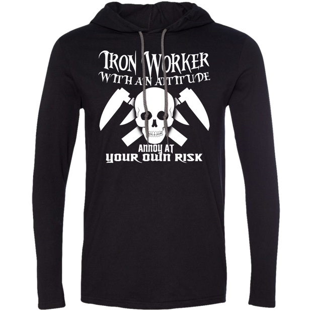 Iron Worker Attitude Annoy At Your Own Risk Tee Shirt Hoodies