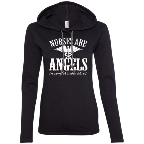 Nurses Are Angels In Comfortable Shoes Ladies Tee Shirt Hoodies