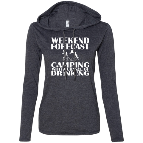 Weekend Forecast Camping With A Chance Of Drinking Ladies Tee Shirt Hoodies