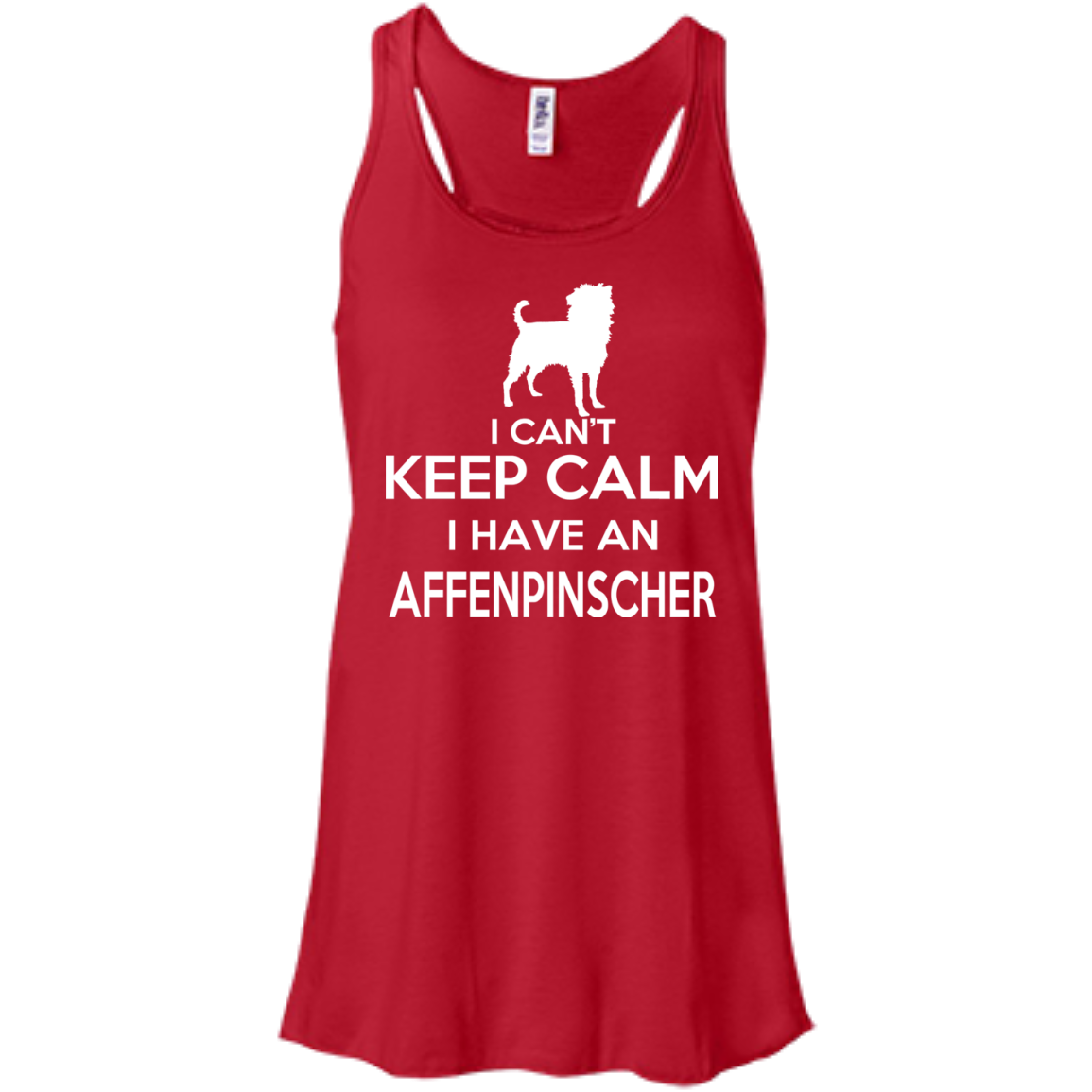 I Cant Keep Calm I Have An Affenpinscher Flowy Racerback Tanks