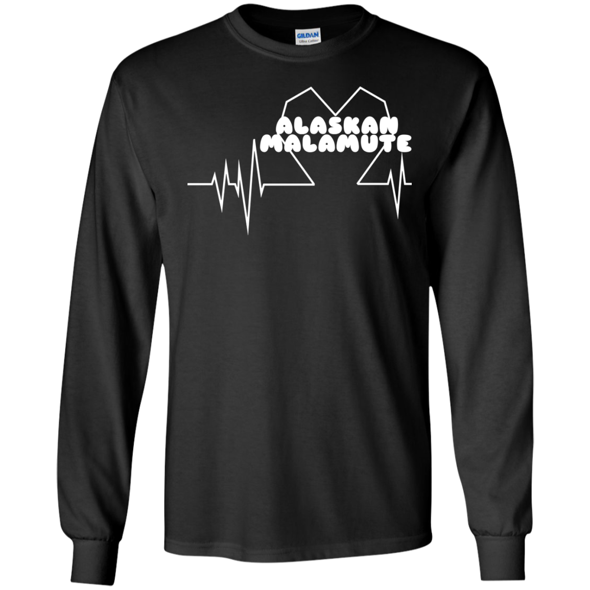 Alaskan Malamute Heartbeat Long Sleeve Tees