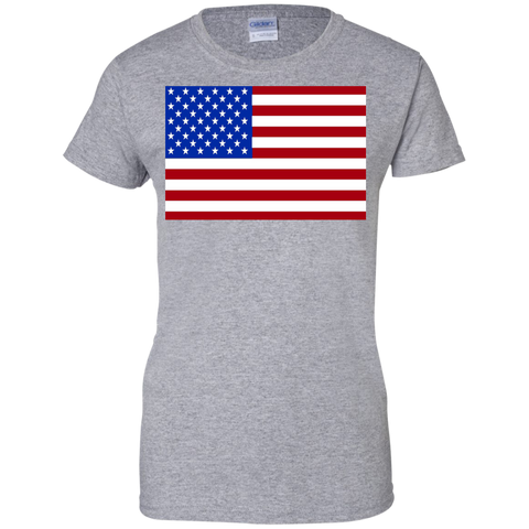 USA Flag Show Your Pride Ladies Tees