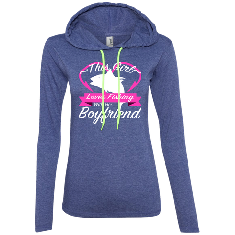 This Girl Loves Fishing With Her Boyfriend Ladies Tee Shirt Hoodies