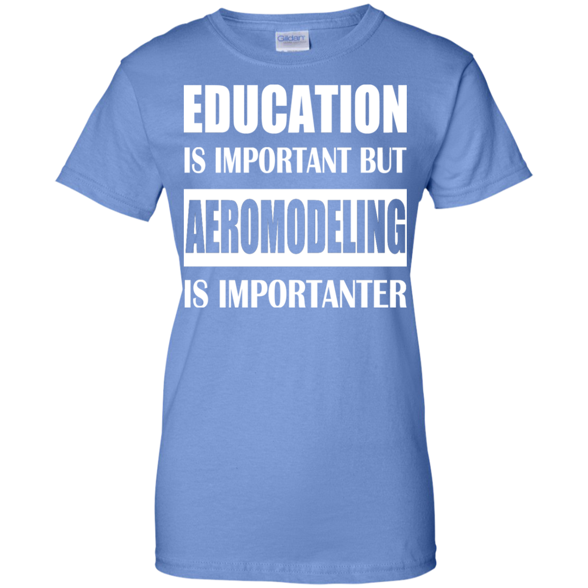 Education Is Important But Aeromodeling Is Importanter Ladies Tees