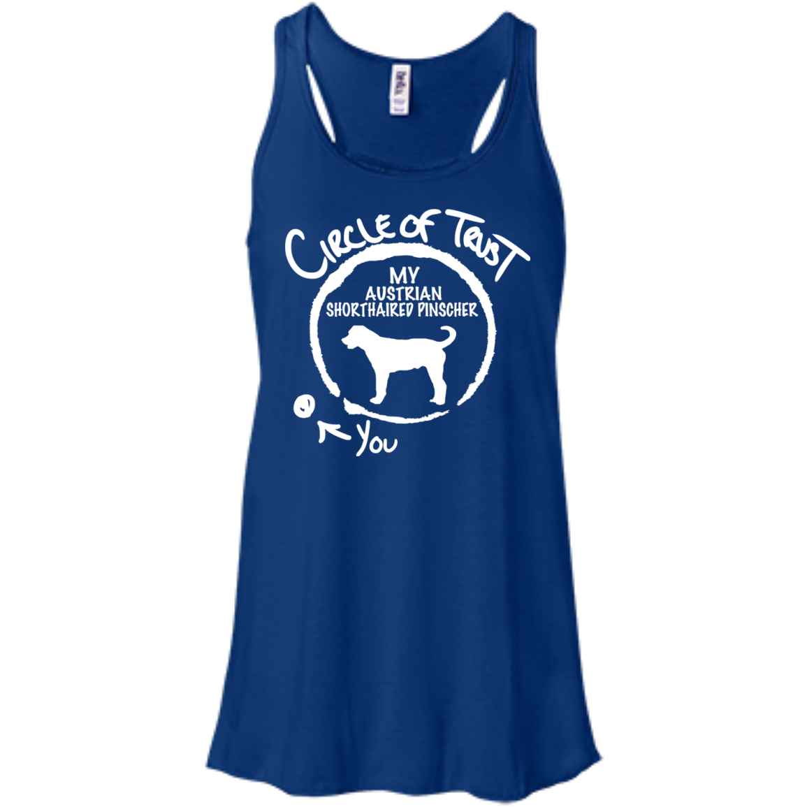 Circle Of Trust My Australian Shorthaired Pinscher You Flowy Racerback Tanks