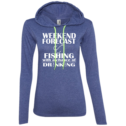 Weekend Forecast Fishing With A Chance Of Drinking Ladies Tee Shirt Hoodies